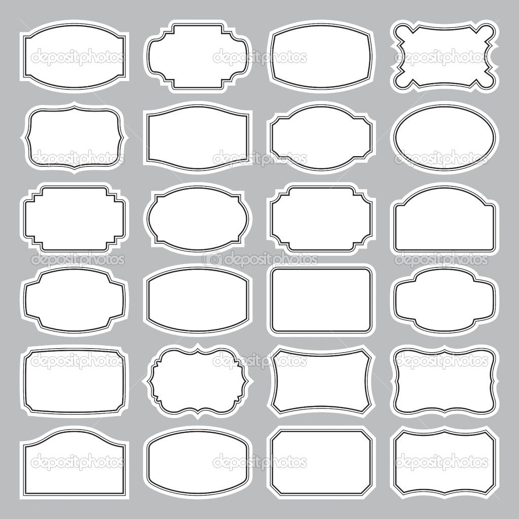 free canning labels images | 24 blank labels set (vector) | Stock ...