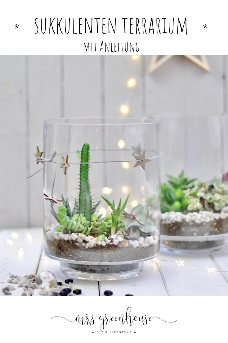 Sukkulenten Terrarium DIY für ein Mini Sukkulenten Terrarium im Glas Wie du diese schöne grüne Dekodiere Selbermachen kannst erzähle ich dir auf