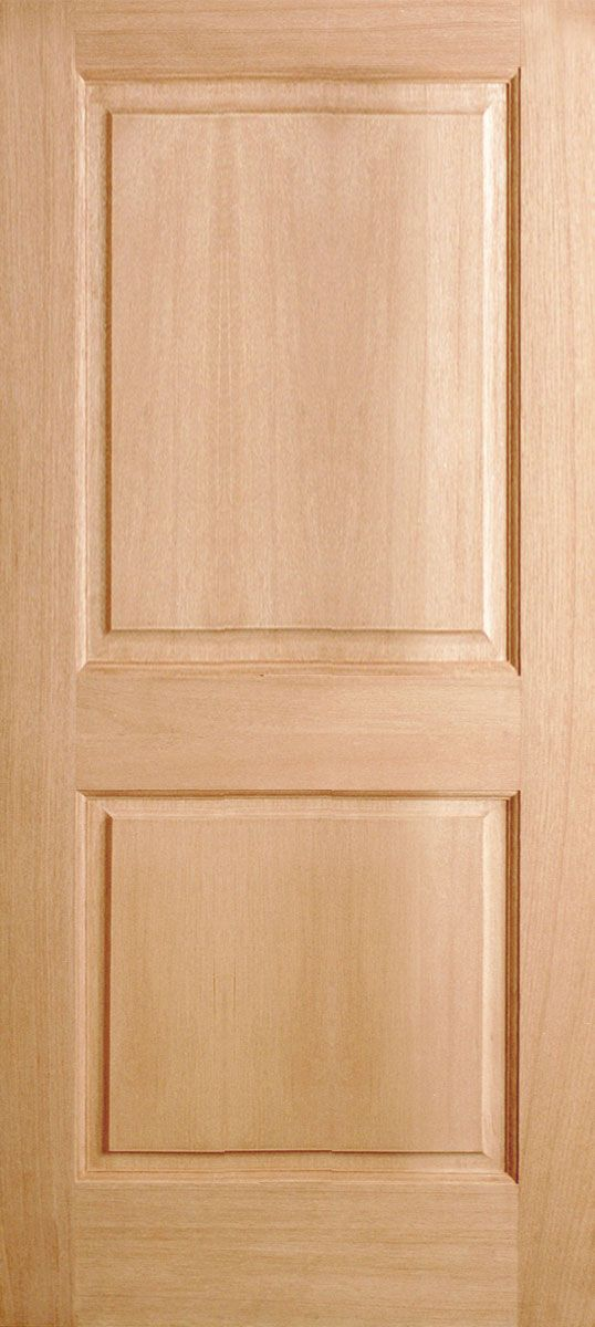 2 Panel Solid Mahogany Interior Door Remodeling Pinterest