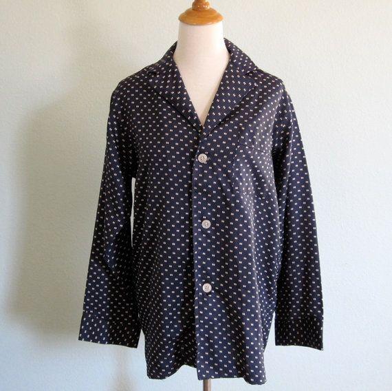 Vintage 1970s Pajamas  Halston Navy and White by BadChollaVintage, $68.00