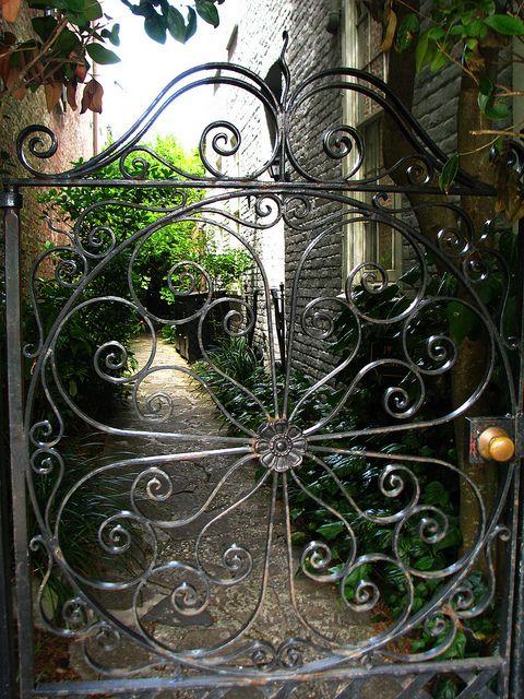 Iron Gate Iron Garden Gates Charleston Gardens Entrance Gates