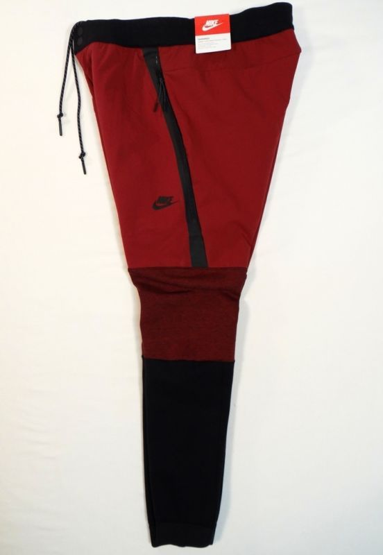 Fleece Tech Oscuro Nike Pantalones Para Cónicos Rojo Sportswear 2 4E4qWAg