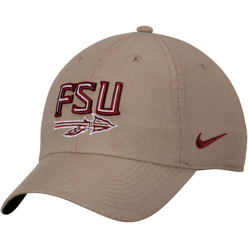 Florida State Seminoles Nike Heritage 86 Performance Adjustable Hat - Khaki