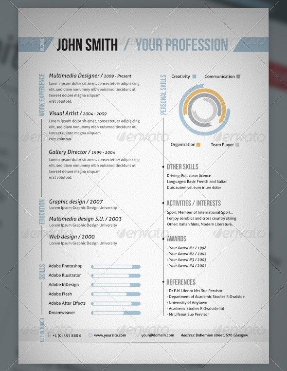 Creative Clean #Resume Design Creative Resume Designs - one page resume format