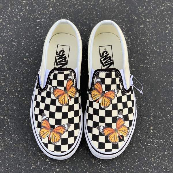 Butterfly shoes, Custom vans shoes