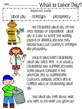 Labor Day Activities Classroom Ideas