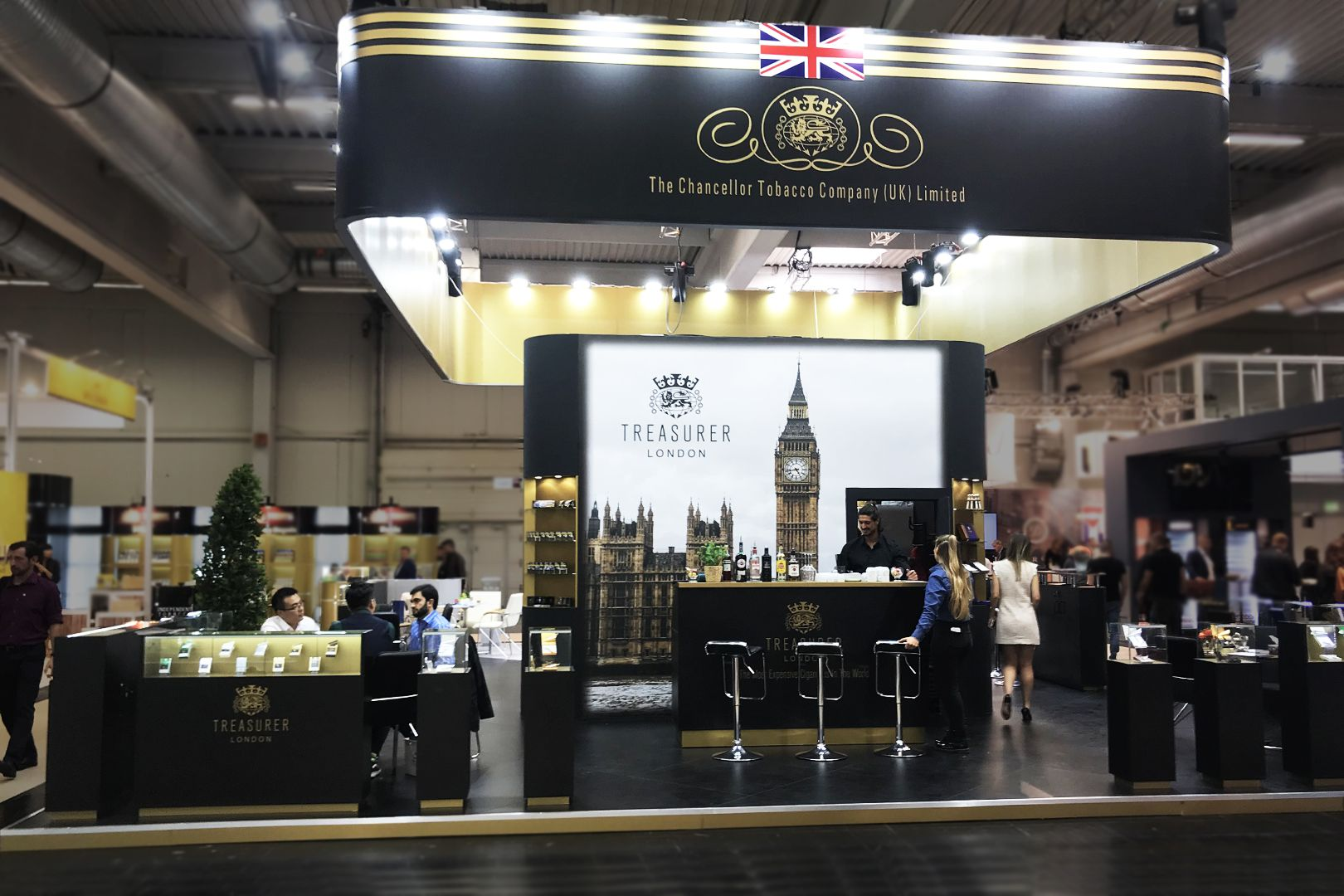 The Chancellor Tobacco Company  #chancellortobacco #tobaccocompany #tobaccotradefair #tobaccostand #standdesign #britainstand  #ukstands #exhibitionstand #exhibitionbooth #customstand #customstands #custommadestand #tailoredstand