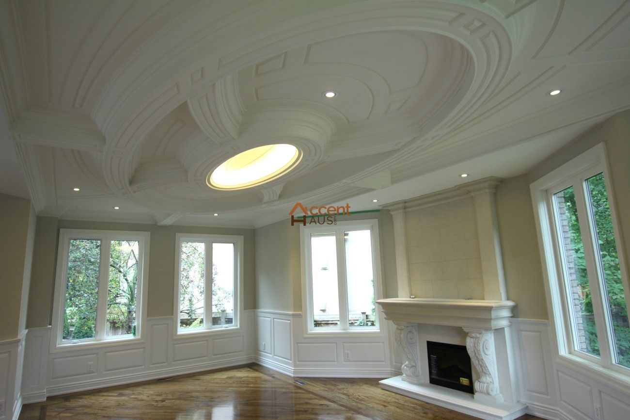 Modern Curved Ceiling In Living Room