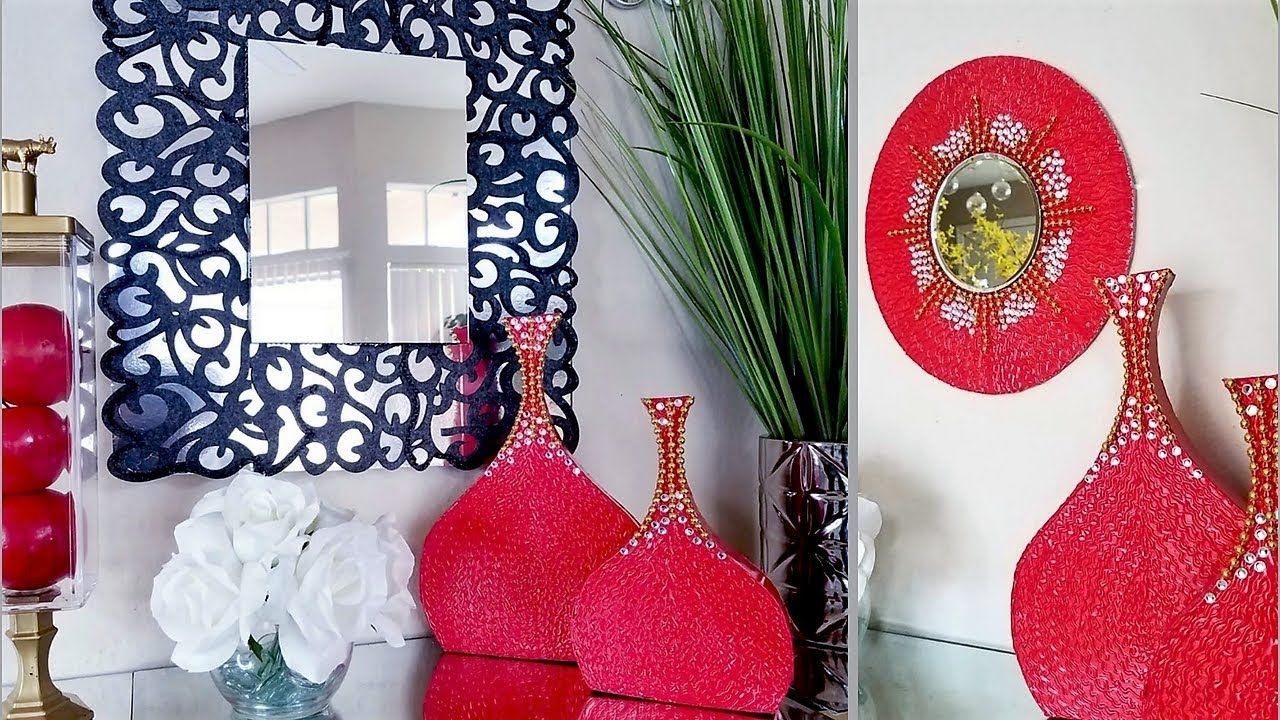 Diy Wall Mirror Accent Vases Quick And Easy Home Decorating