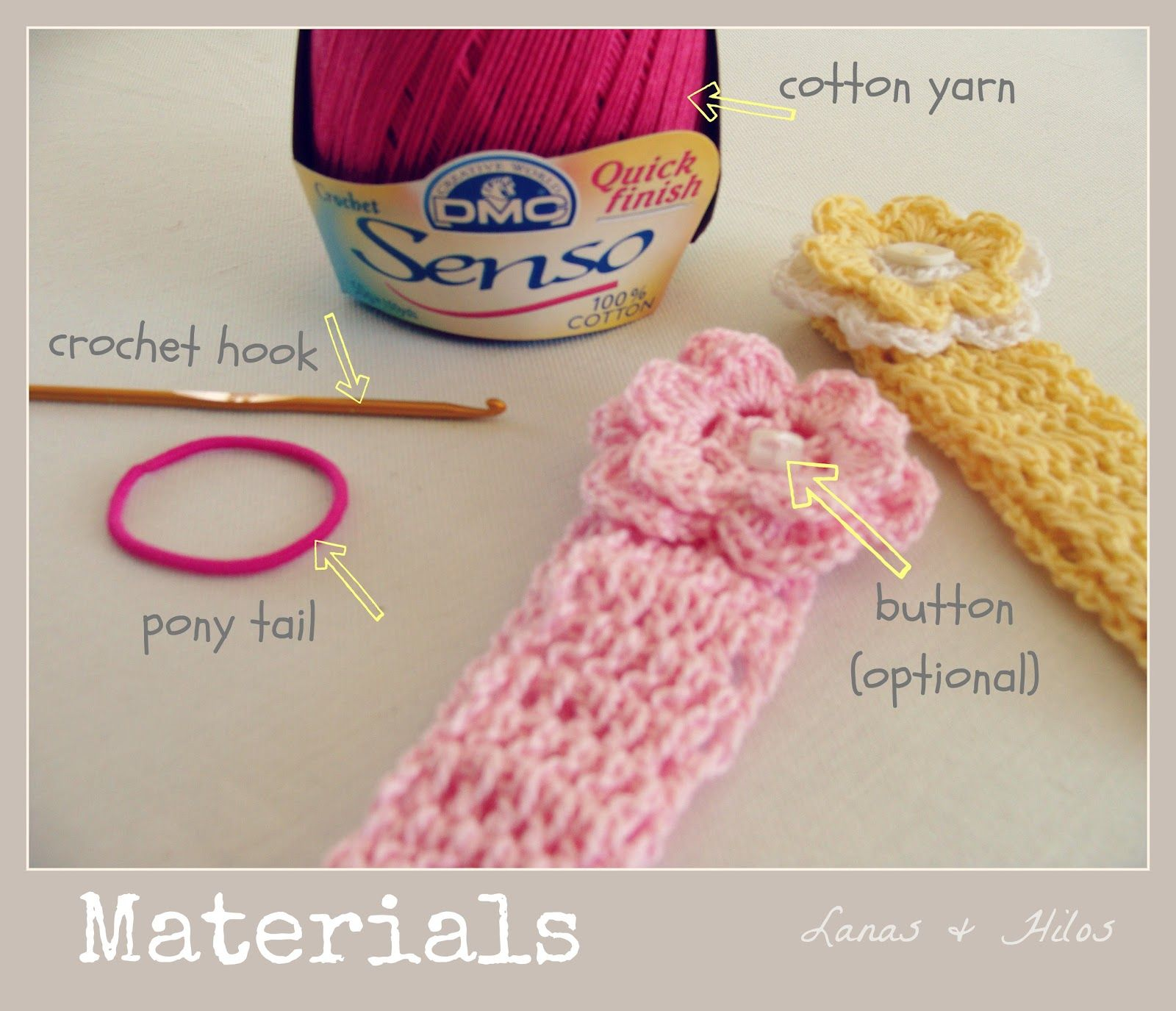 Lanas de Ana: Baby Head Bands (Tutorial) | I Love Crochet ...