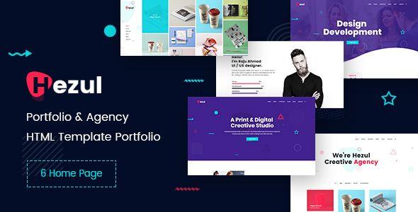 Hezul is portfolio  agency html template specially designed for creative corporate designer web developer photographer also rh pinterest
