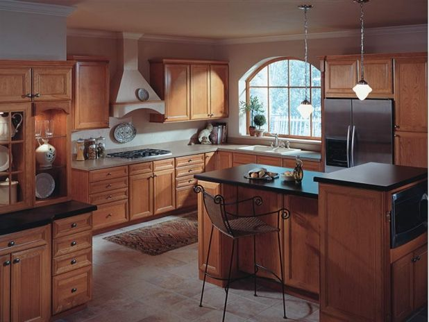 Lovely Tropical Kitchen Design Ideas Prepossessing Product American Standard Country Walnut Cabinet Images