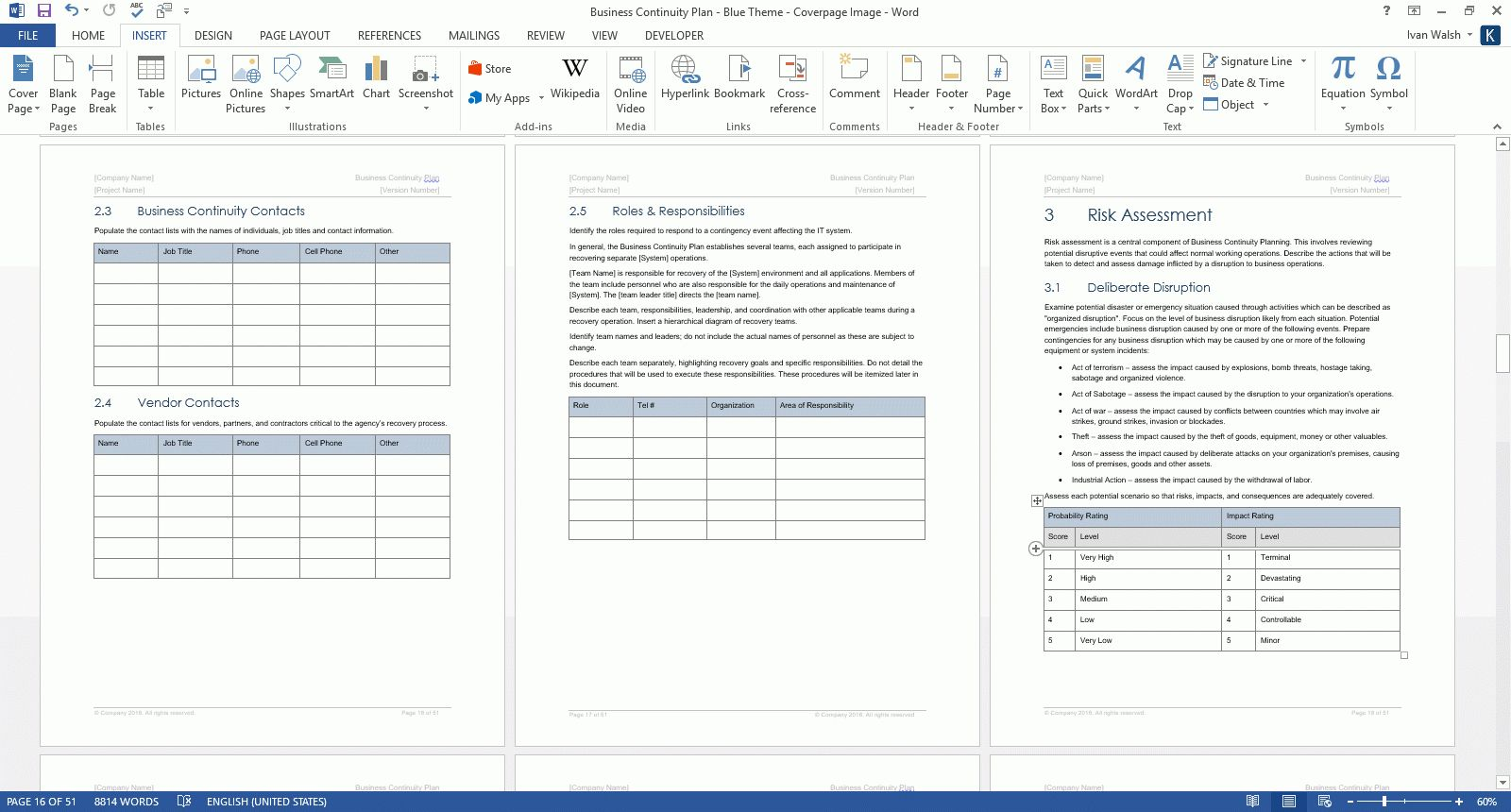 The exciting Business Continuity Plan Template (Ms Word