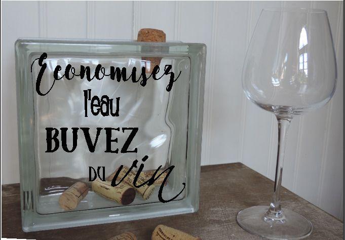 Bloc De Verre Pour Bouchons De Vin Decoration Cadeau Personnalisable Accessoires De Maison Par Crearte