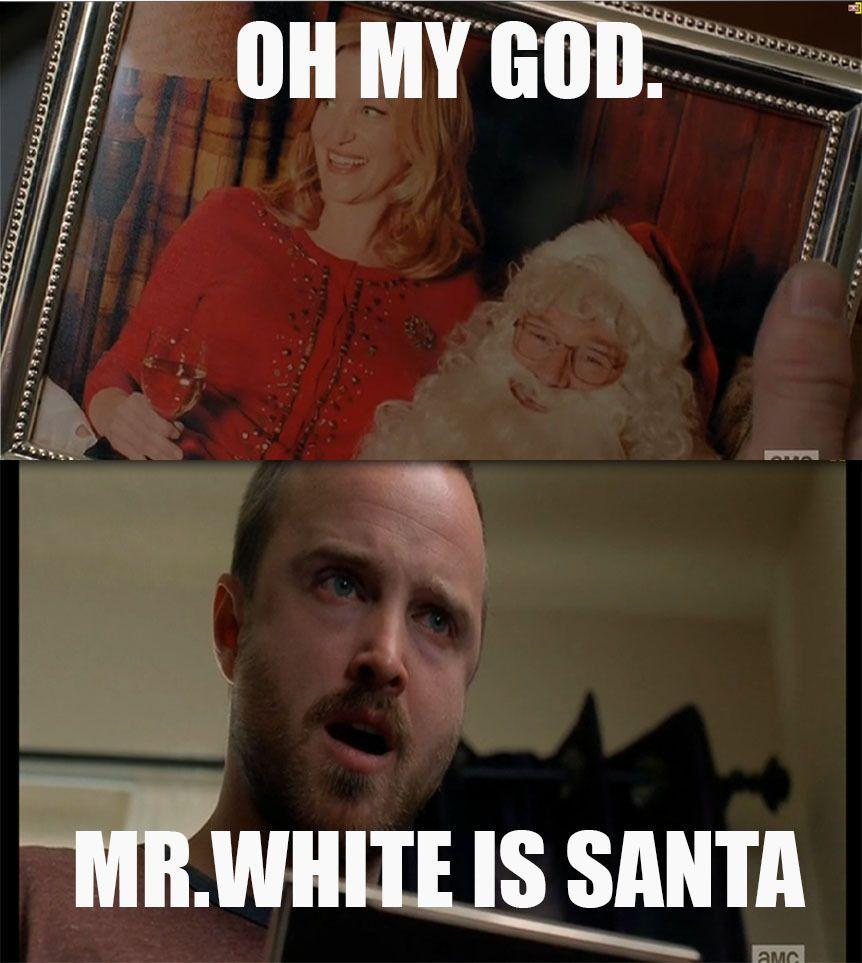 794f52ee48d1c42cc5c50a4698ced1cb mr white is santa ! funny pinterest breaking bad, funny