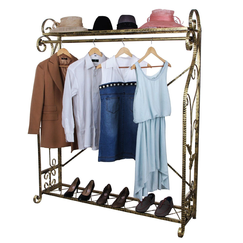 Songmics perchero de metal colgador para ropa perchas for Colgadores para perchas