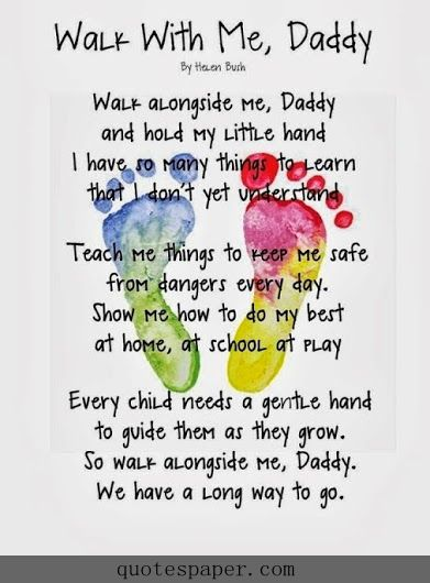 daddy walk with me quotes quote