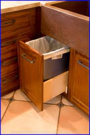 Under Sink Trash Can Pull Out Trash Can Trash Can