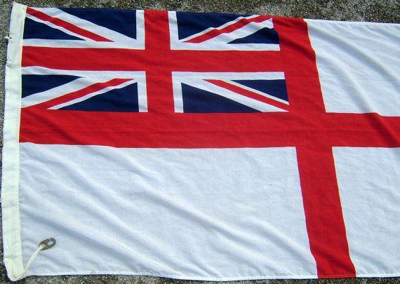 British Royal Navy White Ensign Flag Vintage By Biminicricket Royal Navy Ships Royal Navy Cloth Flag