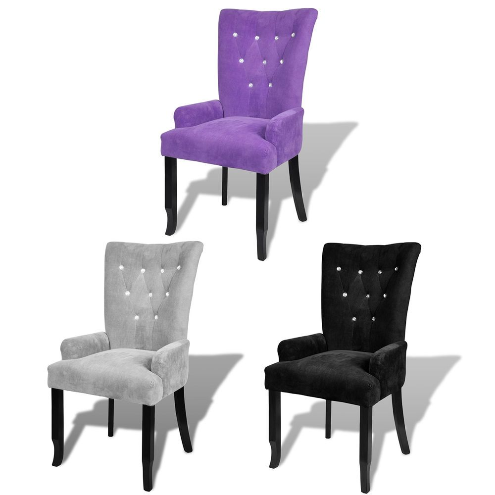 Best Luxury High Back Dining Chair Tufted Velvet Accent 400 x 300