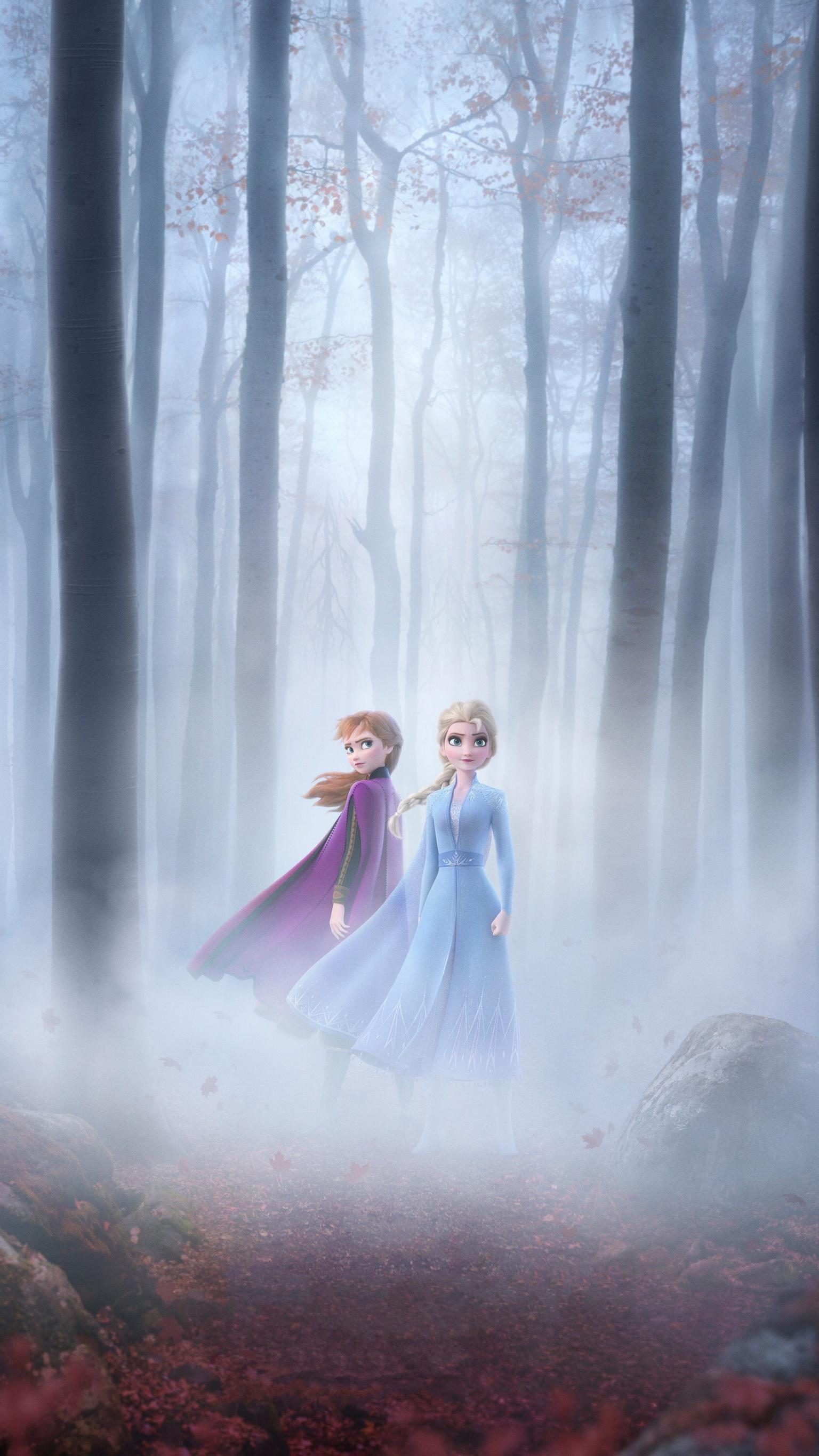 Frozen II (2019) Phone Wallpaper Мультики диснея, Фильм