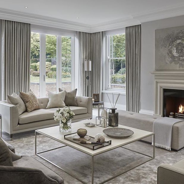Restful Formal Lounge At The Wentworth Project · Modern Living Room CurtainsLounge  ...