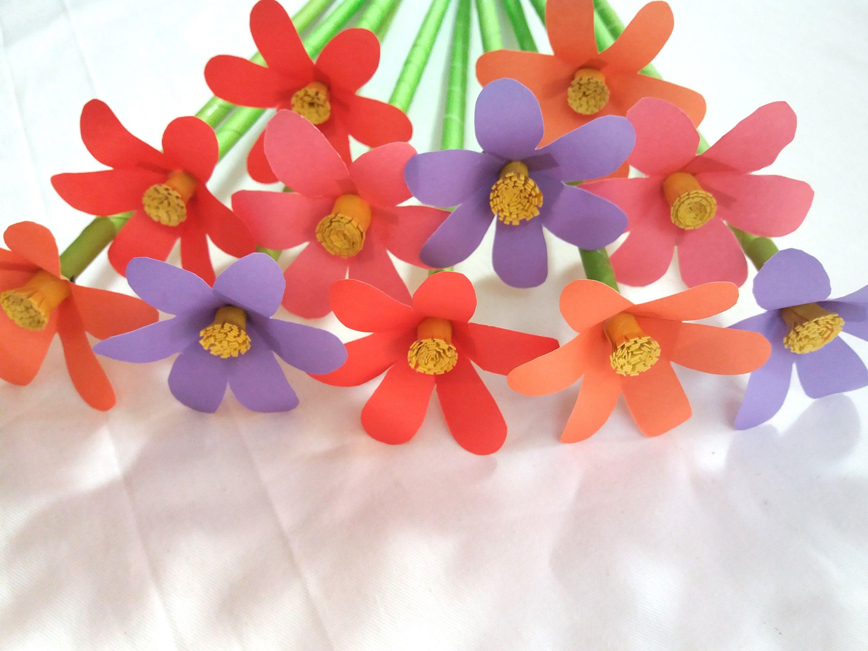 Easy paper flowers handmade craft room decoration
