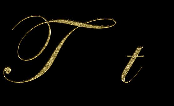 Letter T Gold Font Letter T Write Alphabet Images Letter T Lettering