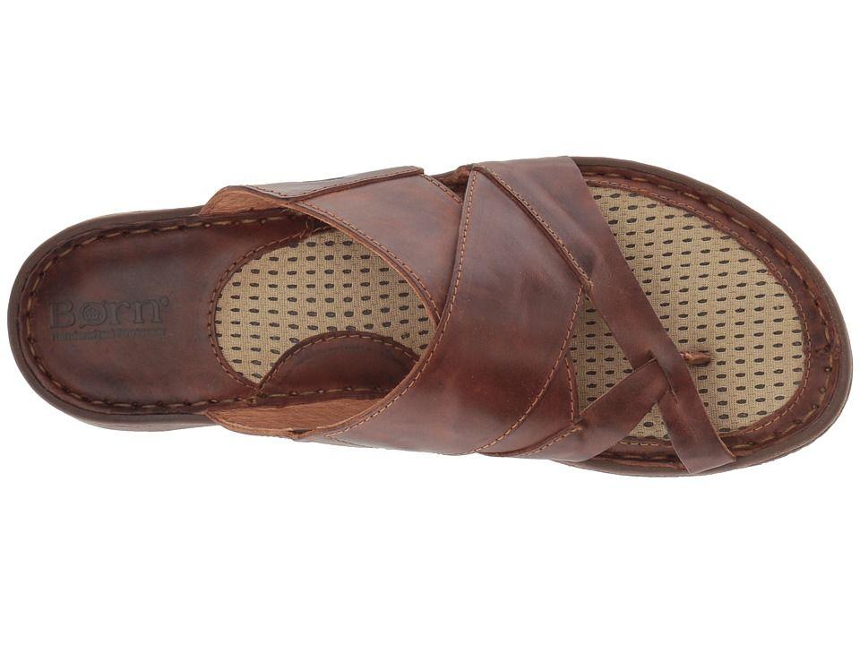 a0369d0e70b Born Sorja II Women s Sandals Brown Full Grain Leather