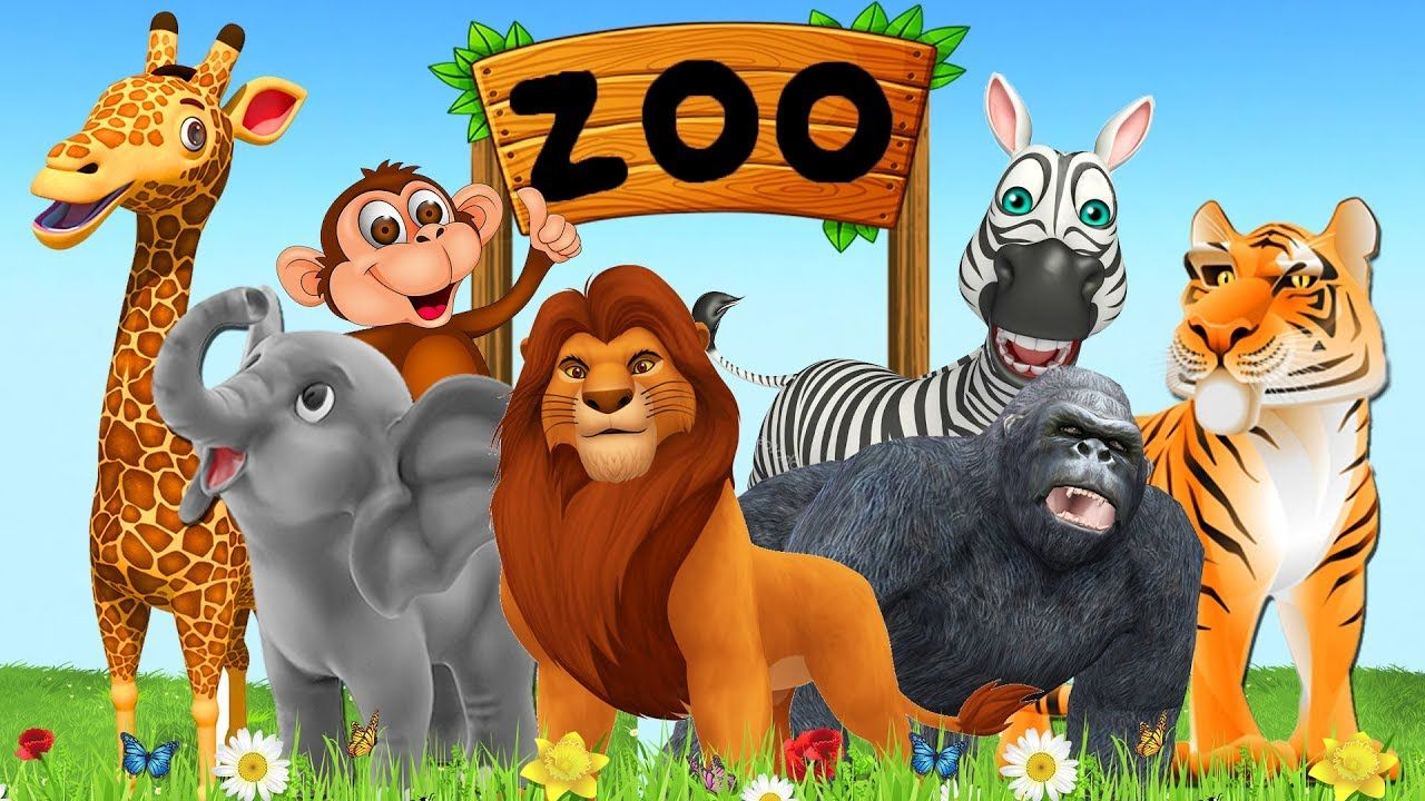 Learn Zoo Animals Names & Sounds For Kids Learn Colors