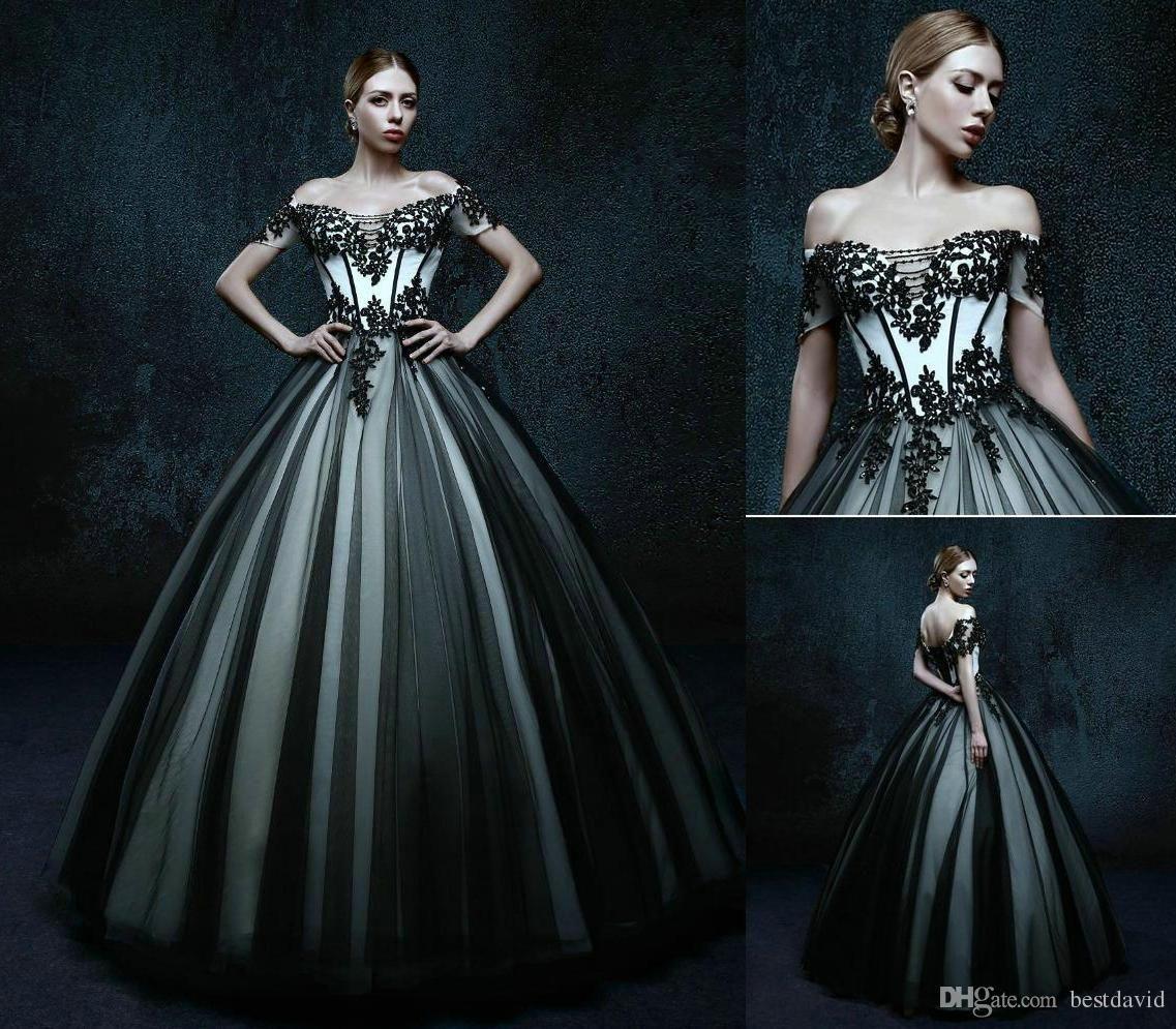 Black White Short Wedding Dress Short White Dress Wedding Vintage Dresses [ 1500 x 1125 Pixel ]