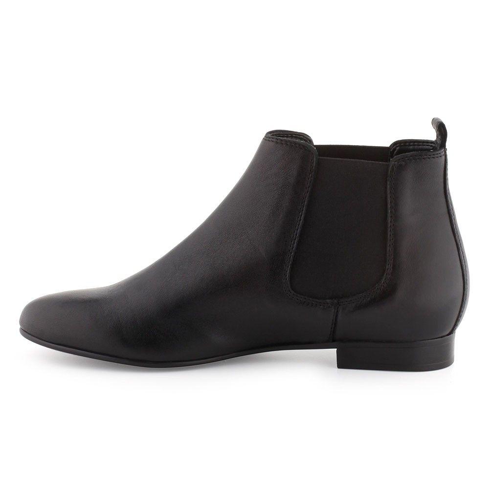 boots/bottines cuir noir pour femme : boots/bottines andré