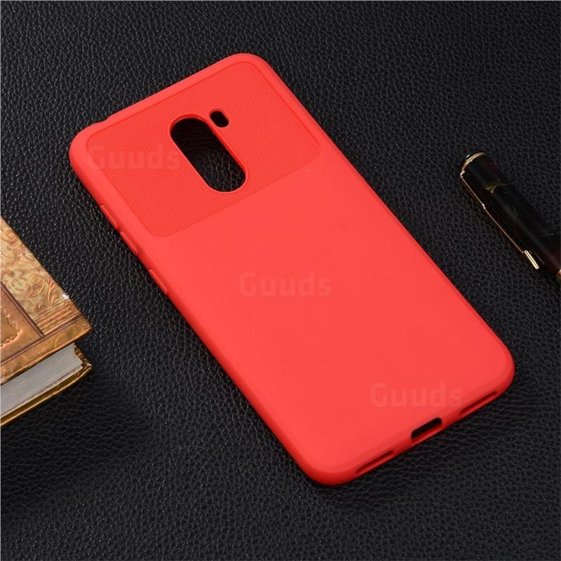 Carapace Soft Back Phone Cover For Mi Xiaomi Pocophone F1 - Red Carapace Soft Back Phone Cover for Mi Xiaomi Pocophone F1 - Red Red Things oppo realme 2 red color