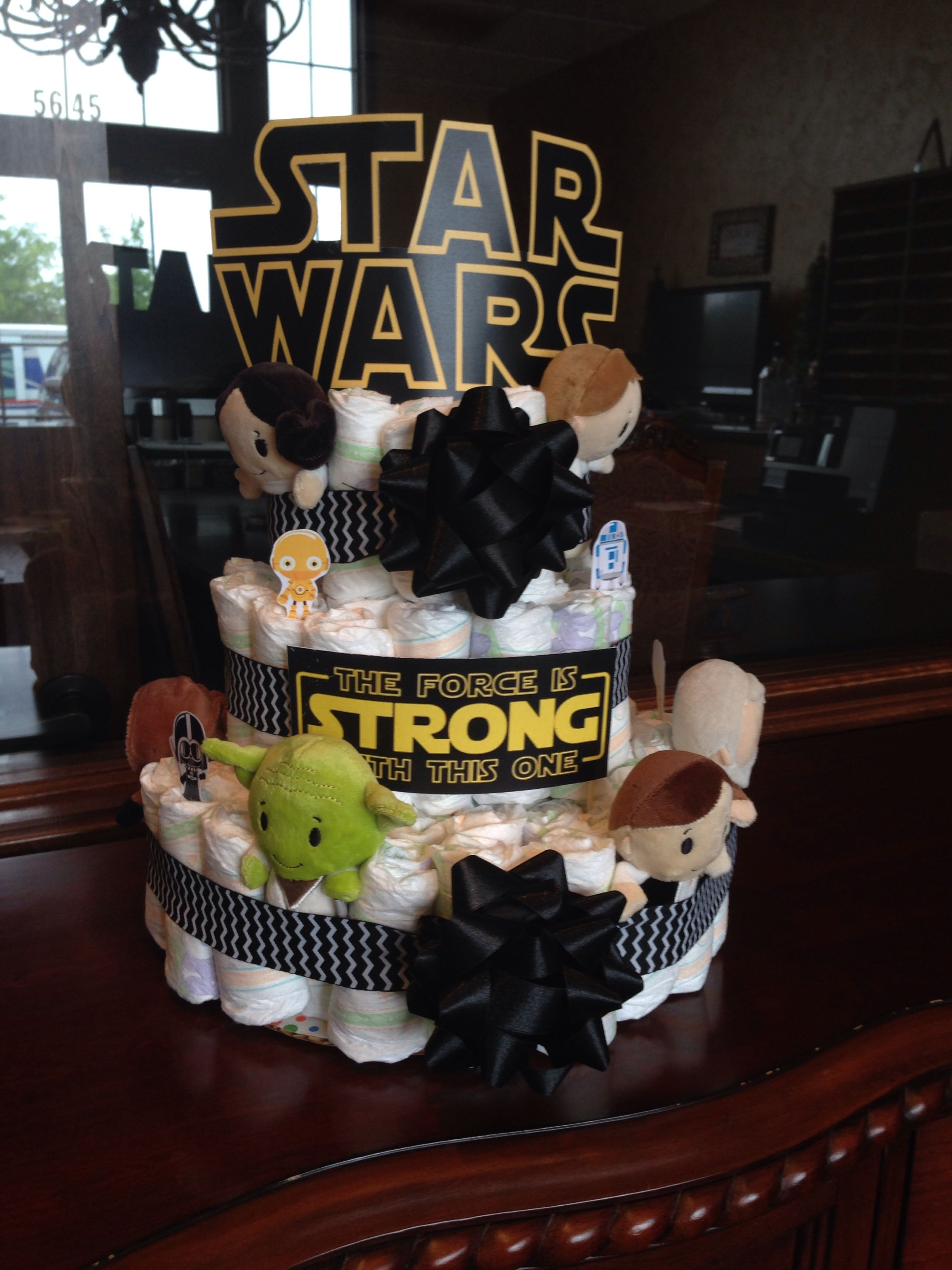 Star Themed Gifts Star Wars Diaper Cake My Diy All My Crafts And Food