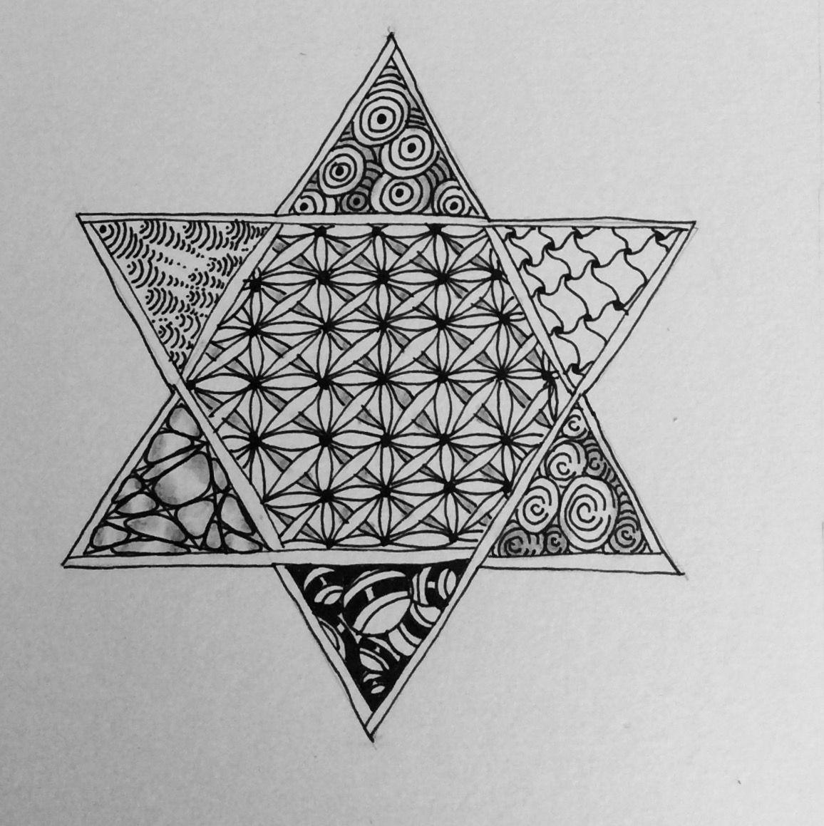 Star of David, ZIA, Zentangle Inspired Art Geometric