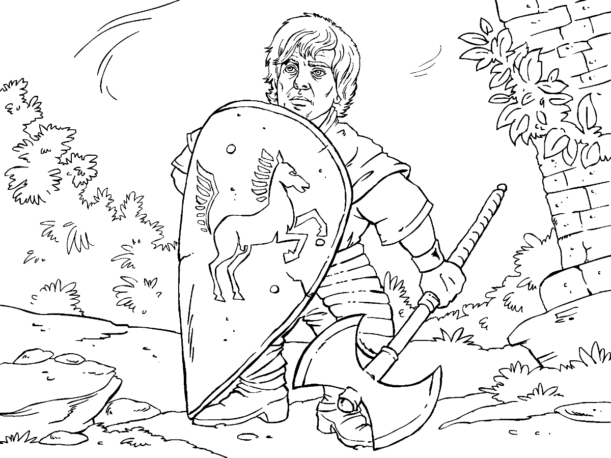 Game Of Thrones Colouring In Page Tyrion Coloring Books Colouring Pages Cartoon Coloring Pages