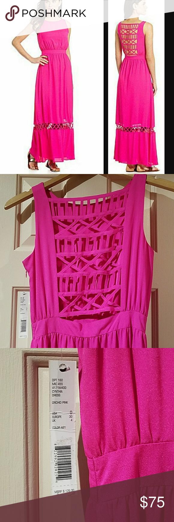 Nwt gianni bini cynthia dress hot pink nwt hot pink maxi