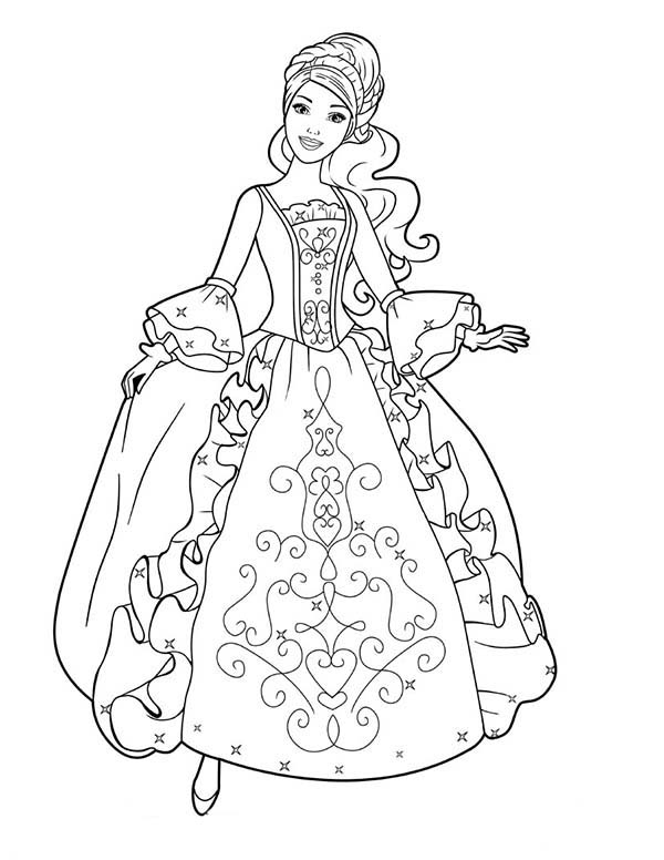 Aramina In Beautiful Ball Dress Coloring Page Coloring Sun Princess Coloring Pages Princess Coloring Barbie Coloring Pages
