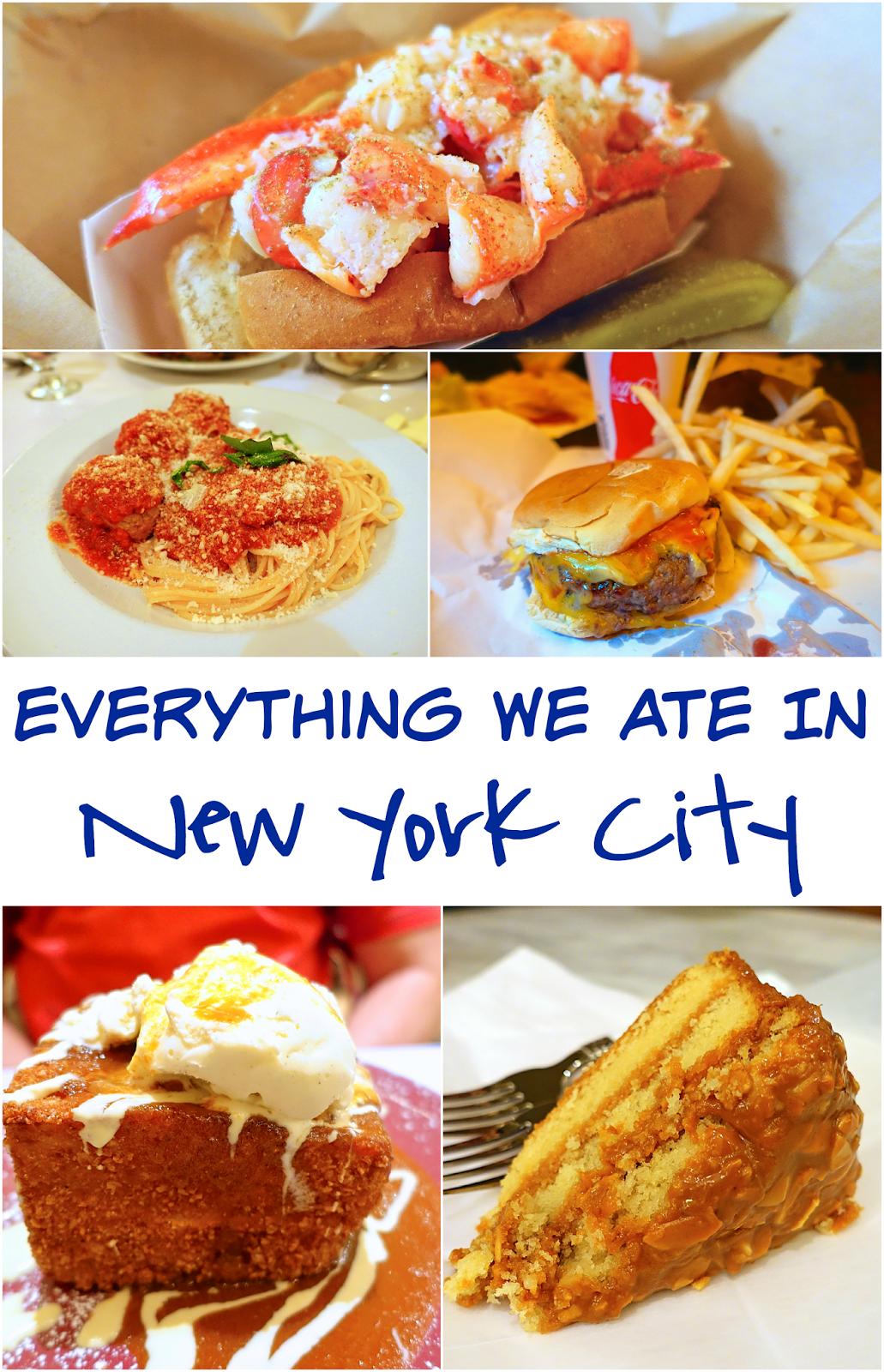 Everything We Ate In New York City Patsy S Italian Restaurant Bull Bear Plaza Food Hall Secret Burger Joint Magnolia Bakery Norma Milk Bar