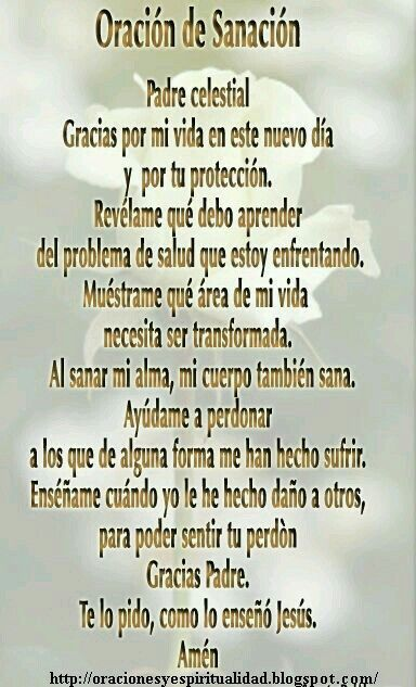 Sanacion Fe Prayers God Y God Prayer