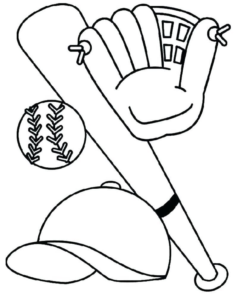 Google Image Result For Http Www Bigactivities Com Coloring Sports Baseball Images Baseball Glove B Bat Coloring Pages Baseball Coloring Pages Baseball Glove