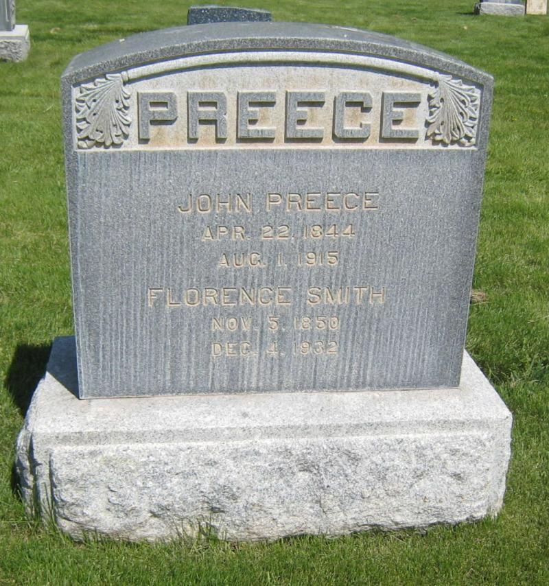 John and Florence Smith Preece Headstone | My Family-William