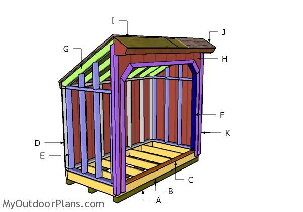 The Perfect Step By Step Plans For A Diy Saltbox Firewood Shed Even Breaks Down The Material List Firewood Shed Shed Plans Wood Shed Plans
