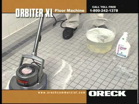 Oreck Commercial Orbiter Floor Machine Porcelain Ceramic Tile Grout C Oreck Grout Cleaner Floor Machine