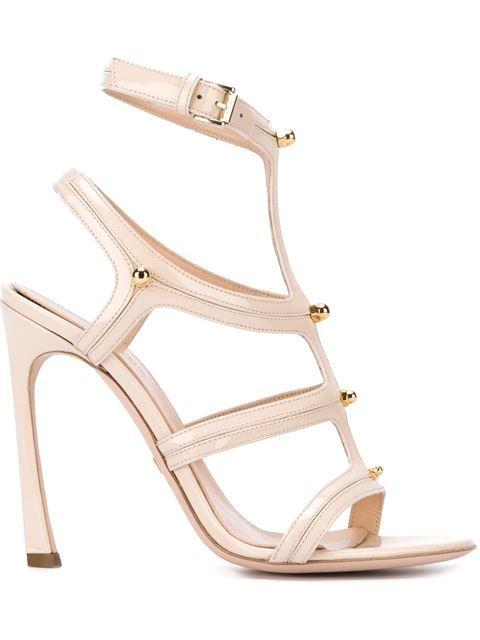 GIAMBATTISTA VALLI Buckle Ankle Strap Sandals. #giambattistavalli #shoes #sandals