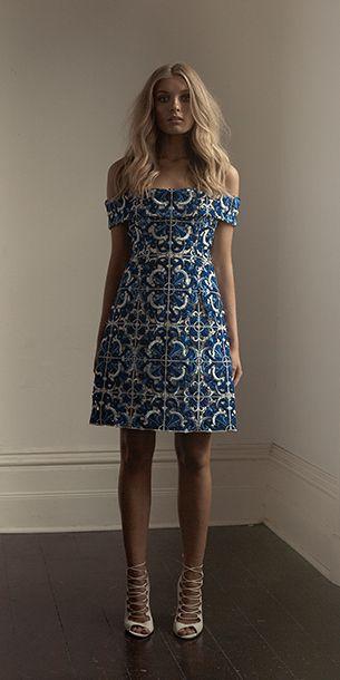 e3b16db5ad0f Blue mediterranean print dress | Boho elegance | Thurley : Resort 15 ...