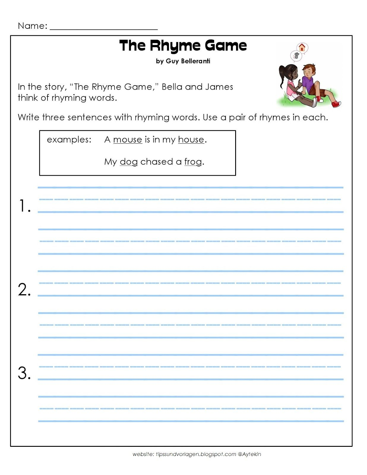 Free Printable 1st Grade English Worksheets
