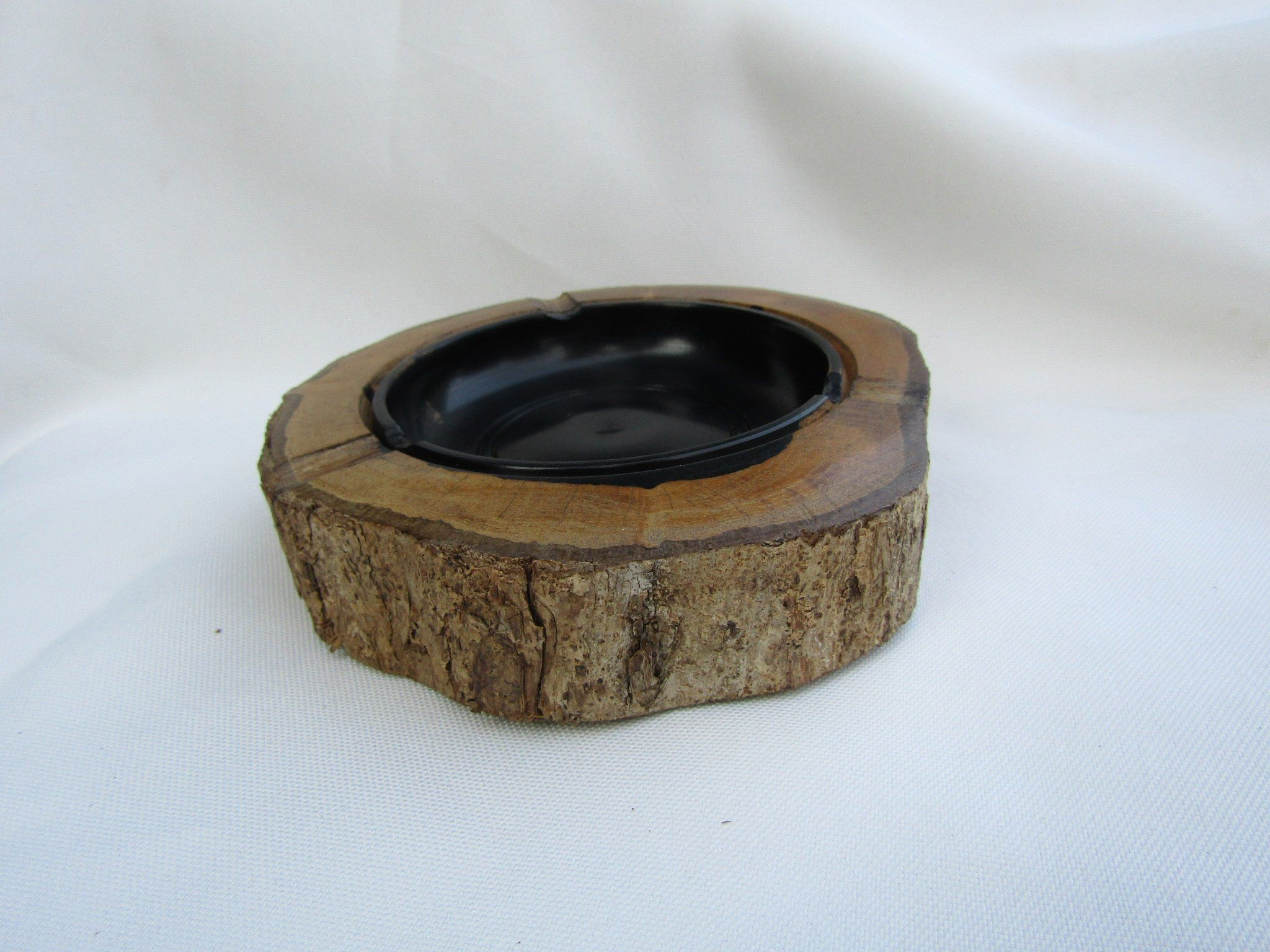 Well-Educated Unique Stone Ashtray Antiques handmade Tobacciana