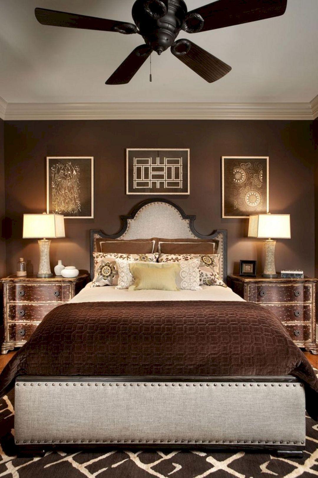 brown painted bedroom walls 2122  modern bedroom