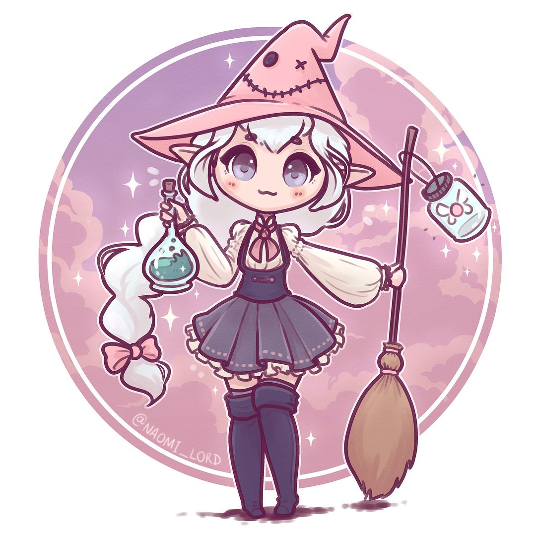 Good witch | S-P-S Hallow's Eve | Kawaii drawings, Cute